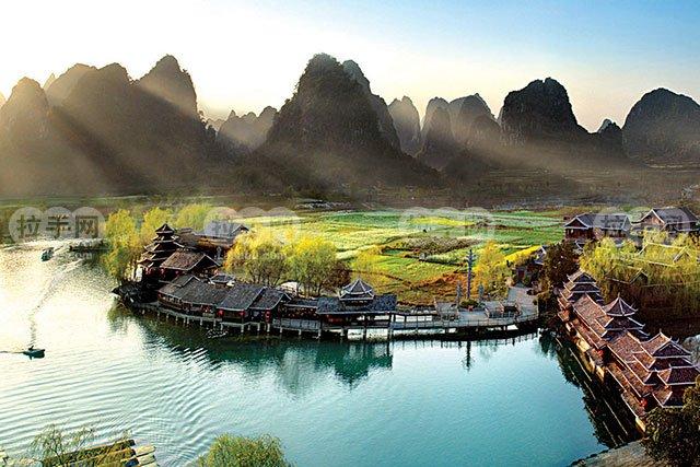 铂金龙脊——桂林、阳朔、三星船大漓江、印象刘三姐双飞5